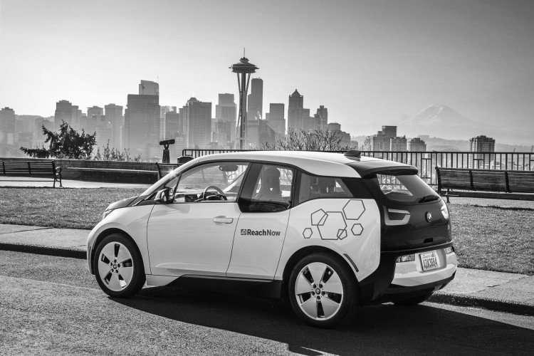 ReachNow car sharing in Seattle