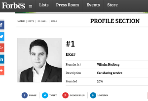 Number One Startup to Watch by Forbes Magazine Ekar