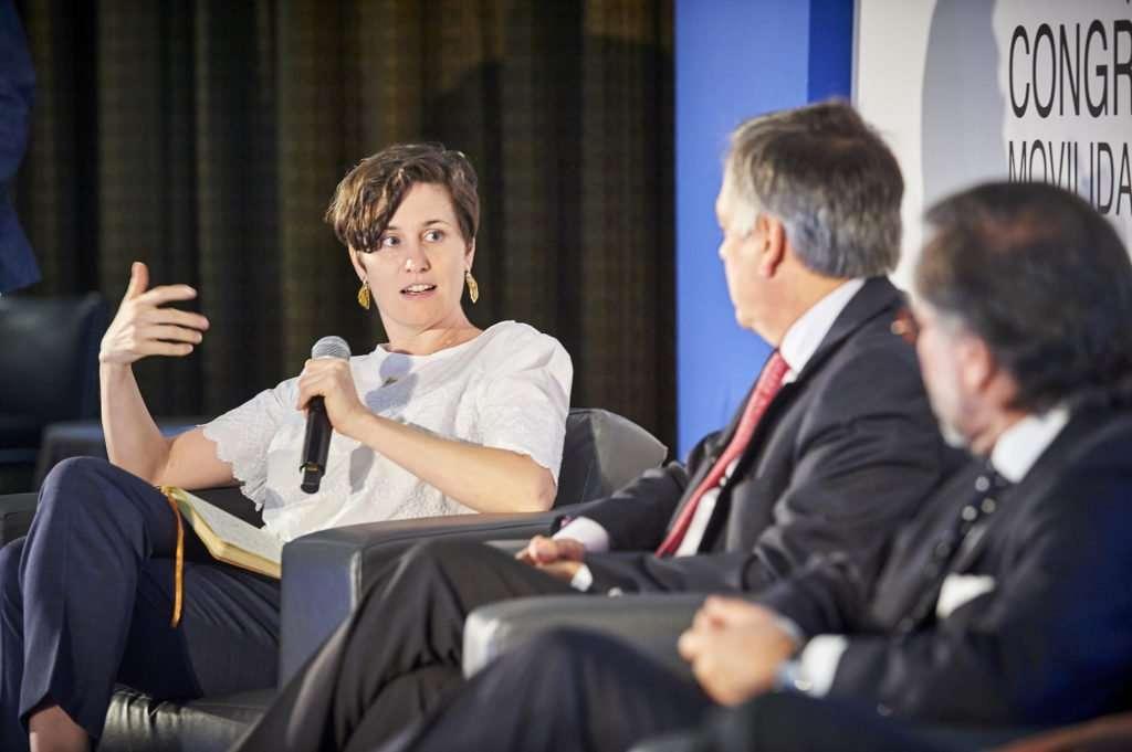 Sandra Phillips on stage movmi CEO