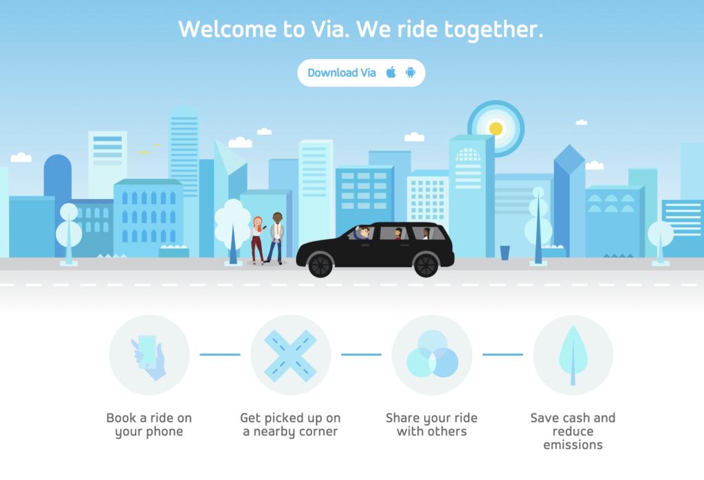 ride with via