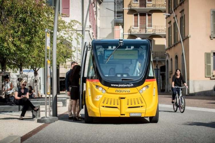 Switzerland driverless bus PostAuto