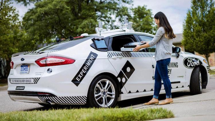 CES 2018 ford autonomous postmates