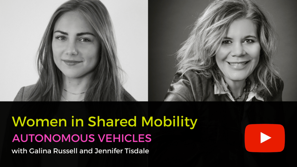 Women in shared mobility autonomous vehicles