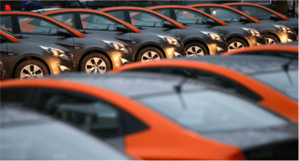 Moscow carsharing fleet