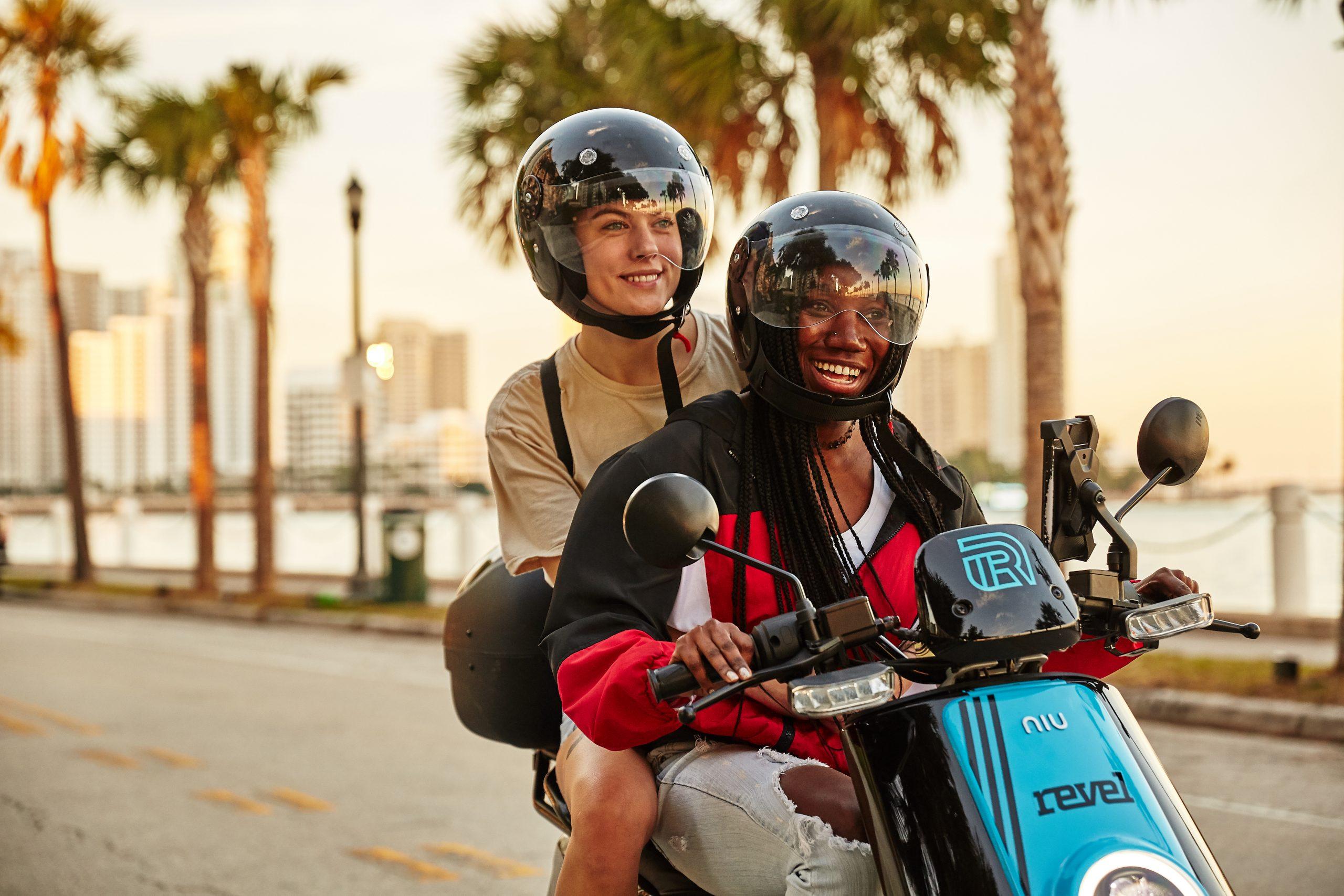 revel moped share